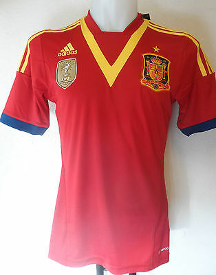 Spain Football 2013/14 Home Shirt By Adidas Adults Size Small Brand New
