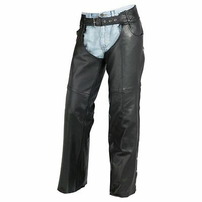 Z1R Carbine Leather Motorcycle Street Road Bike Riding Pants Mens Chaps