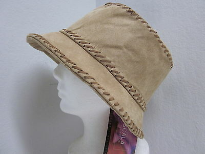 c5391943745 New Scala Ladies Microfiber Bucket Hat - Light Brown - one size   med to  large