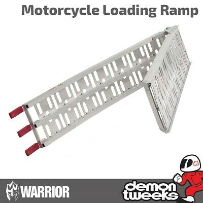 1 x Warrior Folding Aluminium Moto Cross / MTB / Wheel Barrow Loading Ramp