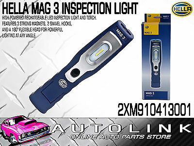 Hella Mag 3 High-Powered Rechargeable Led Inspection Light And Torch With Magnet