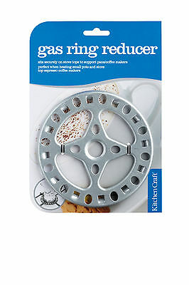KITCHENCRAFT Steel Gas Hob/Stove Top Ring Reducer. Espresso Coffee Pots/Makers.