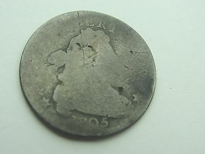1805 Draped Bust Dime * Hole Filler But Rare Coin *