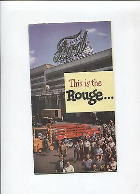 """N° 7196 / dépliant FORD USA  """"This is the rouge""""   1954 ?"""