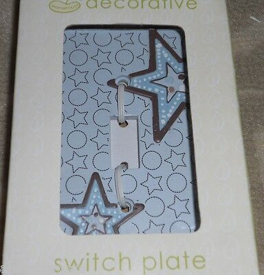 Beansprout Light Switch Cover Plate Mod Star New Decorative Stars Circles Boy