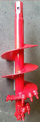 """Extreme Duty 16"""" Multiplane Bullet Tooth Rock Auger with 2"""" Hex Hub"""