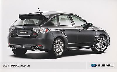 2008 Subaru WRX STI Promo Kit Brochure w/Stickers & Fraternity of STI Tattoo