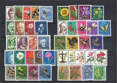 Switzerland Pro Juventute - 44 Different Mint Unhinged Stamps