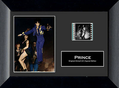 "PRINCE Pop R&B Soul Rock Funk Purple Rain FRAMED FILM CELL and PHOTO 5"" x 7"" New"