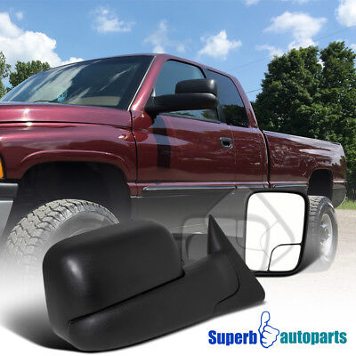 1998-2001 Dodge Ram 1500 Power Heat Towing Fold Out Mirrors 98-02 Ram 2500 3500