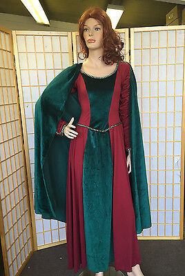 Medieval Maid Marian Lady in Waiting Costume  Adult Large Costume