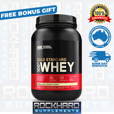 OPTIMUM NUTRITION 100% WHEY 2LBS - 909g GOLD STANDARD PROTEIN POWDER WPI
