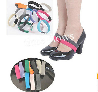 New Elastic Shoe Strap Lace Band for holding loose high heeled shoe,decor