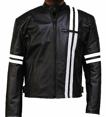 X-Men Style Real Leather Biker Motorbike Motorcycle Jacket Great Quality