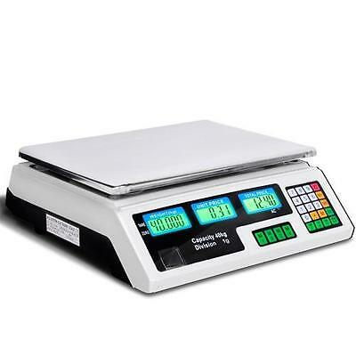 Electronic Kitchen Price Counting Scale Food Postage Weight 40KG LCD Memory