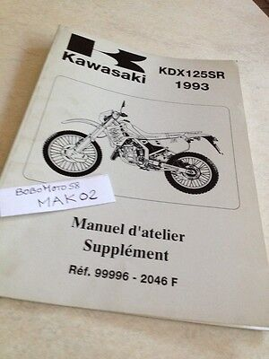 Kawasaki KDX125SR 90 à 93  KDX 125 supplement manuel atelier workshop manual