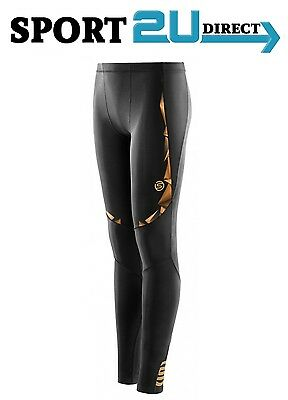 [bargain] Skins Compression A400 Youth Long Tights ( Black/Gold ) | NEW!