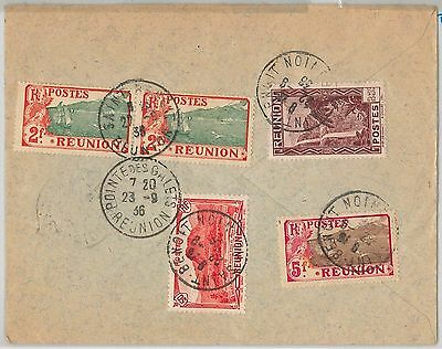 French Colonies: REUNION -  POSTAL HISTORY: REGISTERED COVER to FRANCE 1936