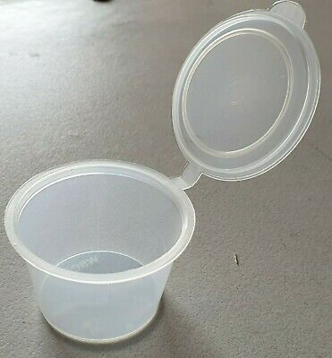 1 Oz (30ml) 200 Pcs 100 Base + 100 Lids Round Sauce Take Away Containers Sydney