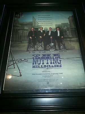 The Notting Hillbillies Mark Knopfler Rare Original Promo Poster Ad Framed!