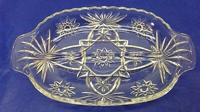 EAPC Early American Prescut Divided Relish Serving Plate Dish Tray 10x6 Vintage