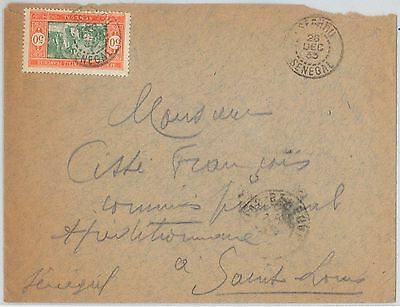 SENEGAL -  POSTAL HISTORY: COVER with nice postmark 1933