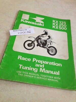 Kawasaki KX 125 250 500 KX125 KX250 KX500 guide preparation tuning manual éd.85