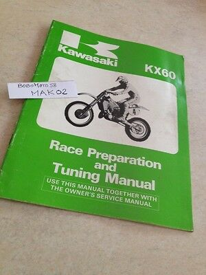 Kawasaki KX60 KX 60 60KX guide preparation tuning manual éd.85