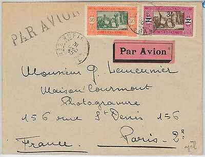 SENEGAL -  POSTAL HISTORY: AIRMAIL COVER from Rufisque  to FRANCE 1931
