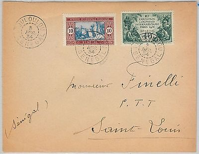 SENEGAL -  POSTAL HISTORY: COVER with nice postmark 1934