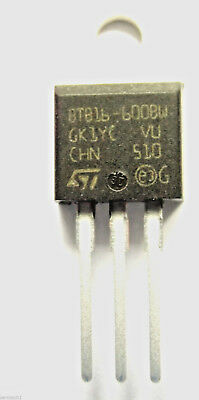 BTB16-600BW  TRIAC 600V 16A 50ma Snubberless Non insulated 3-Pin TO-220AB
