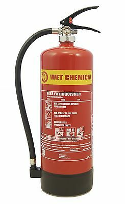 New 2 Litre Wet Chemical Fire Extinguisher - Free Uk Delivery
