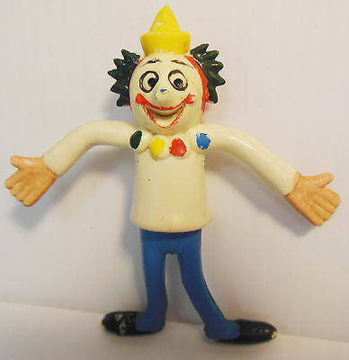 Vintage Original JACK-IN-THE-BOX Jack the Clown Bendy Toy Figure 1960s Weird Odd