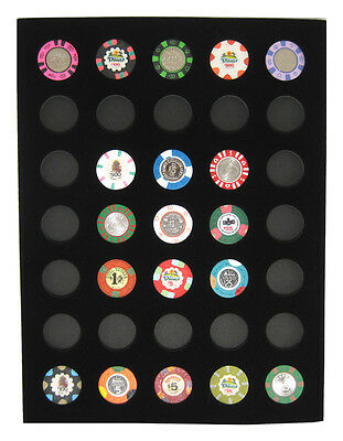 Chip Insert 35 Casino Chips Display Board 12 x 16  HOLDS 35 CHIPS New FREE SHIP*