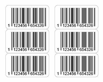 EAN Printed Barcode Number Stickers 1000, 4000 or 20000 Sticky Labels