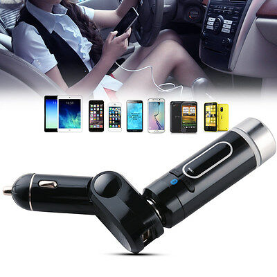FM Transmitter Bluetooth Radio Adapter In-Car Vehicle With Cigarette Lighter