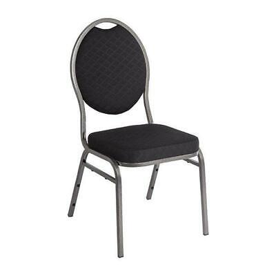 4 x Bolero Oval Back Banqueting Chairs, Black, Banquet / Conference Chair
