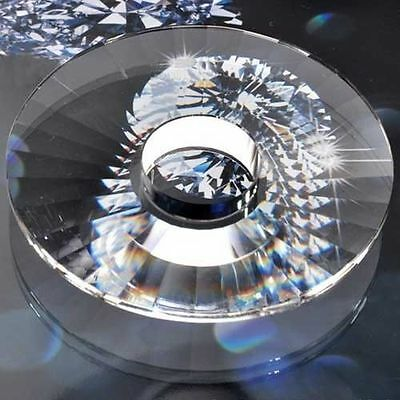 1PC Chandelier Glass Crystals Lamp Half UFO Prisms Parts 100mm