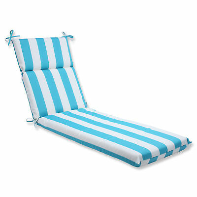 Pillow Perfect Cabana Stripe Outdoor Chaise Lounge Cushion