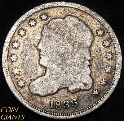 1836 Capped Bust Silver Half Dime 5c Philadelphia Rare Type Coin!