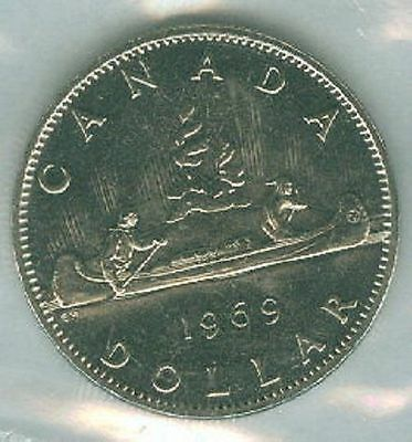 1969-PL Proof-Like Voyogeur $1 One Dollar '69 Canada-Canadian BU Coin UNC