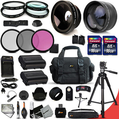Xtech Kit for Nikon D7000 Ultimate 32 Piece w/ Wide +2x Lens +2 Batteries +MORE!