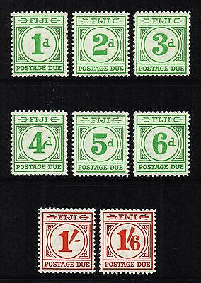 Fiji 1940 Postage Due set to 1s.6d., MH (SG#D11/D18)
