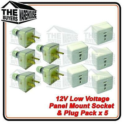 12 volt Power Socket Extention T Plug Caravan Boat Marine 4WD Low voltage 2 pin,