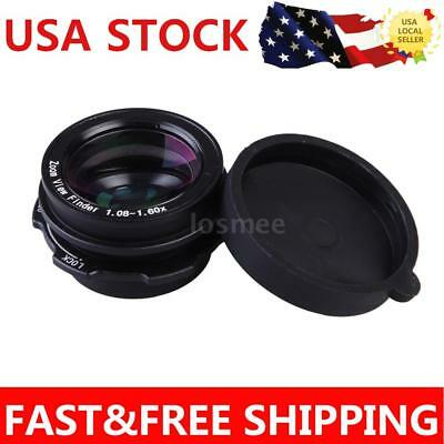 US 1.08x-1.60x Zoom Viewfinder Eyepiece Magnifier for Canon Nikon SLR Camera LS