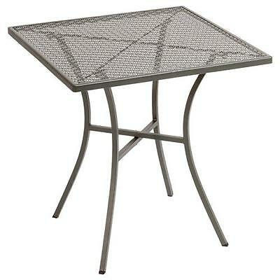 Cafe Table, 700mm Square Grey Steel, Outdoor  Restaurant & Cafe Furniture