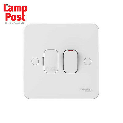UNDERFLOOR HEATING Schneider Lisse 13A Switched Fuse Connect Unit 1 Gang White