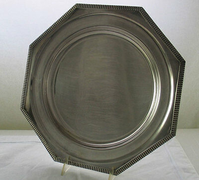 Octagonal Round Platter, Gadroon Pattern, 12 in.