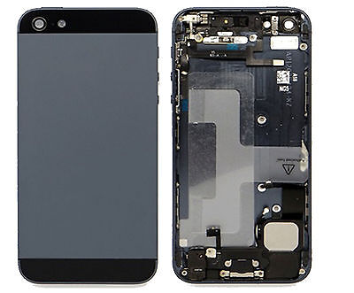 Genuine Iphone 5 5G Back Battery Cover Fascia Housing + Parts Grey + Black UK