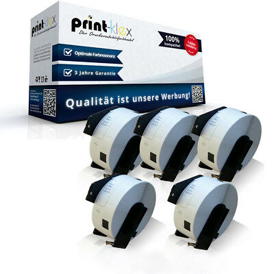 5x Adress Etiketten Rollen für Brother P-Touch QL570 DK11201 -Print Plus Serie